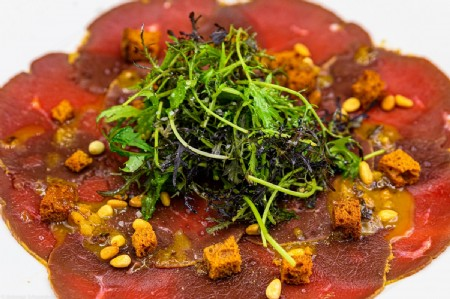 deer carpaccio